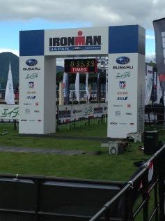 Finish Line. Ironman and Marathon