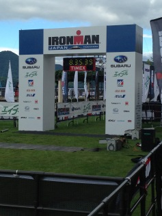 Finish Line. Ironman and Marathon